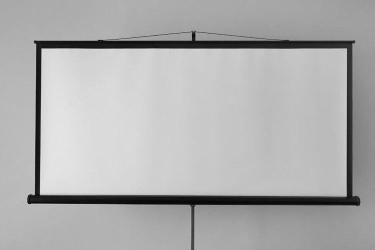 black border projector screen