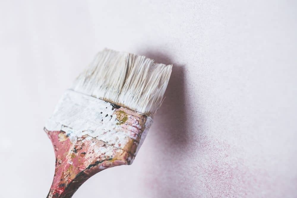 brush used to paint a matte surface