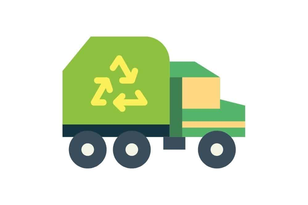 disposal service truck in graphic