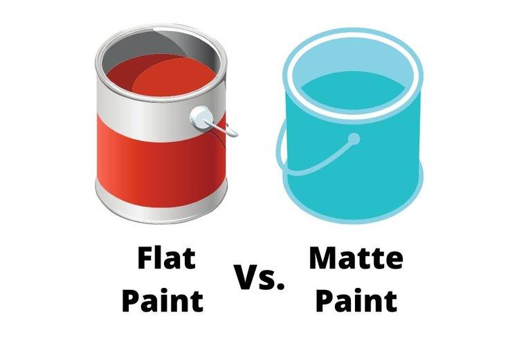 flat paint vs matte paint