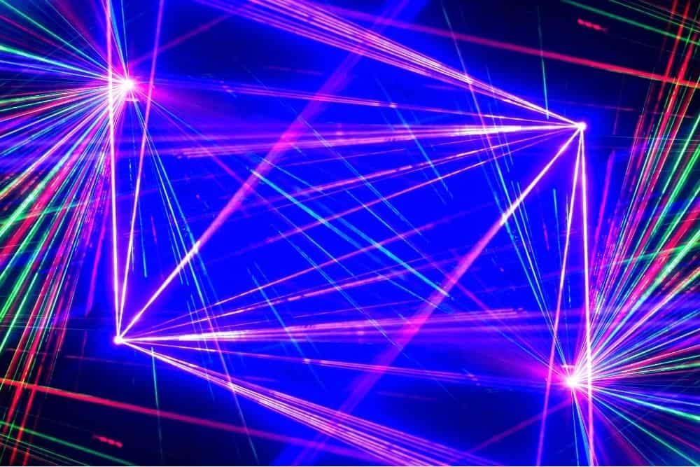 laser show projected by the projector