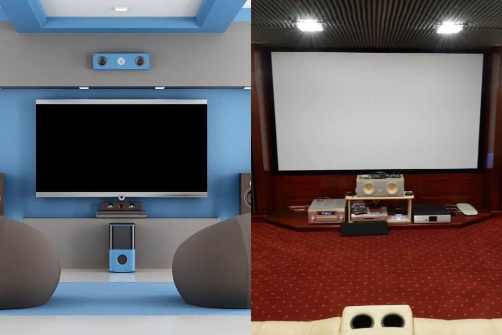 monitor vs projector home theater