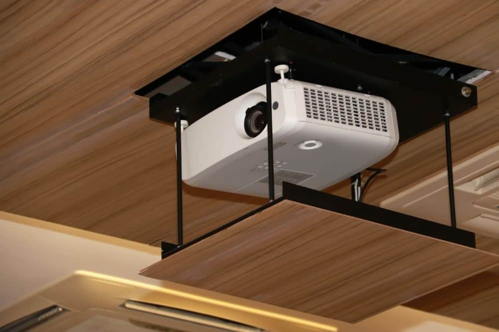 one example to hide projector on the ceiling