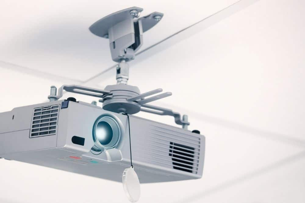 projector attached on the ceiling