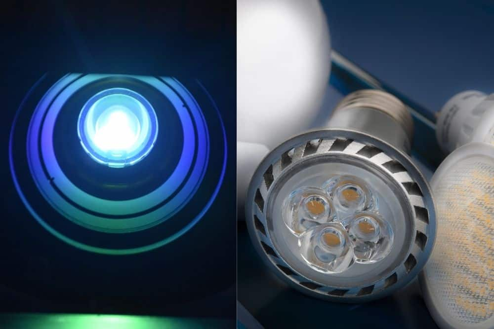 projector lamp and LED bulb