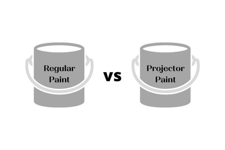 regular vs projector paint