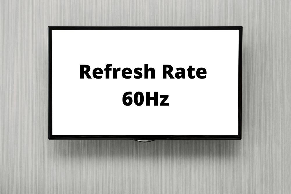 TV set refresh rate at 60hz