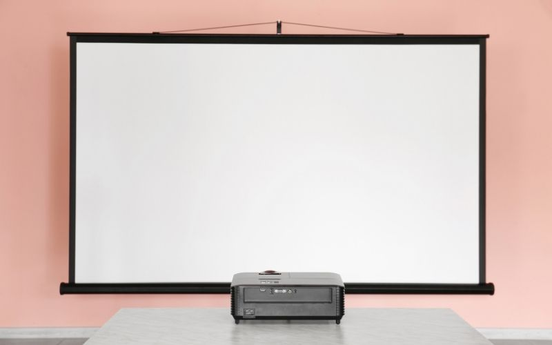 how to mount a projector screen without drilling