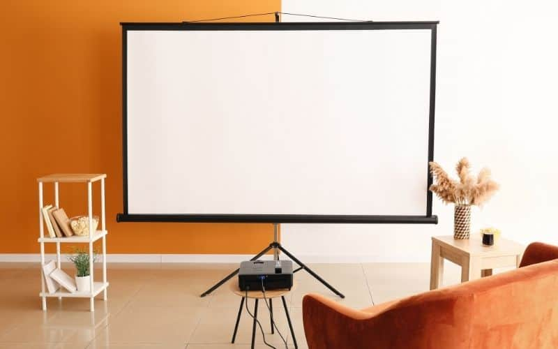 adjusting the position of projector to make the image bigger smaller