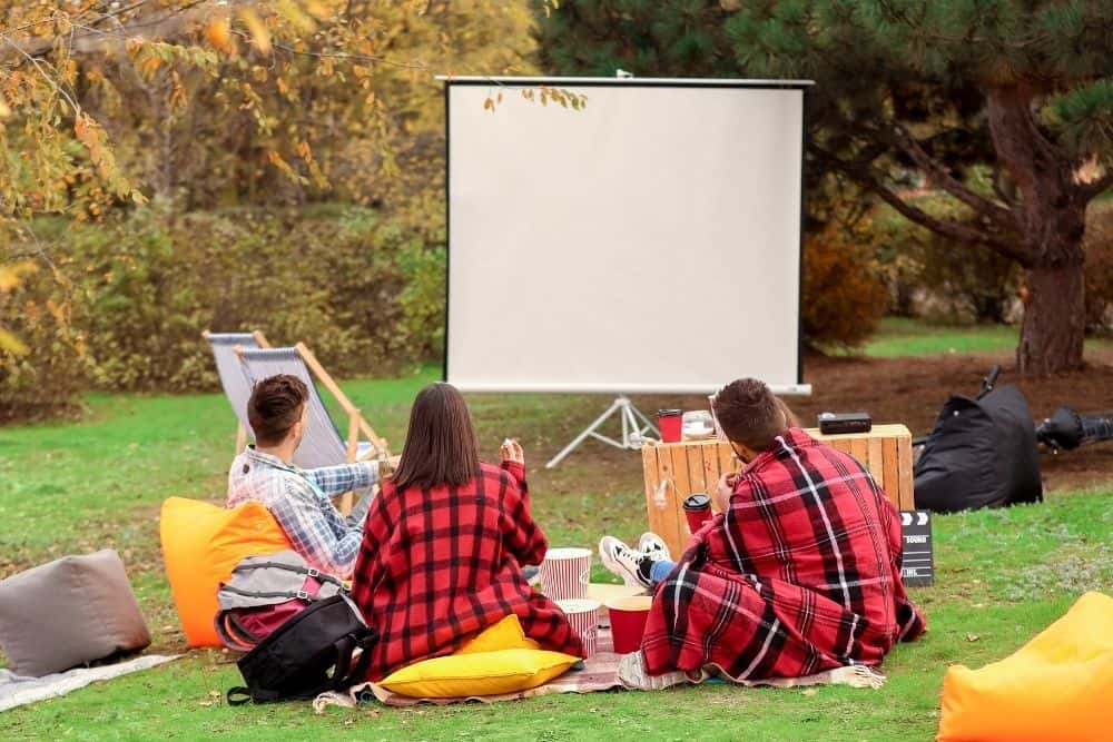 best outdoor projector screen with stand