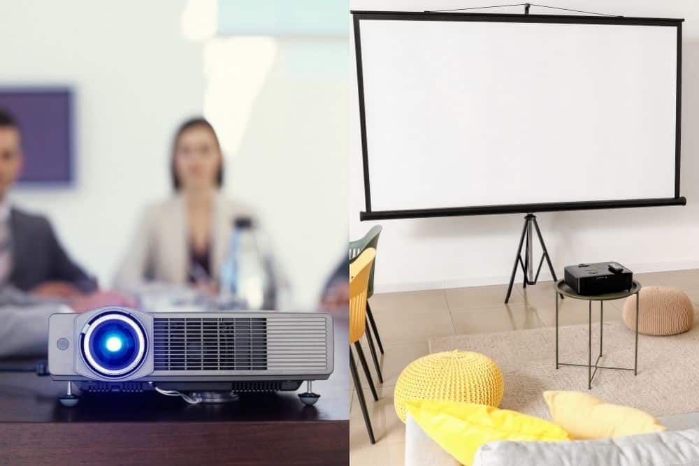 business vs. home theater projector
