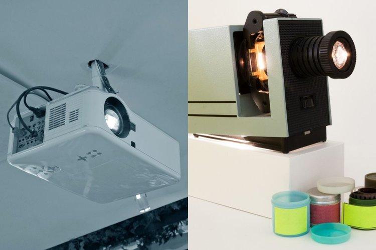 digital vs. opaque projector