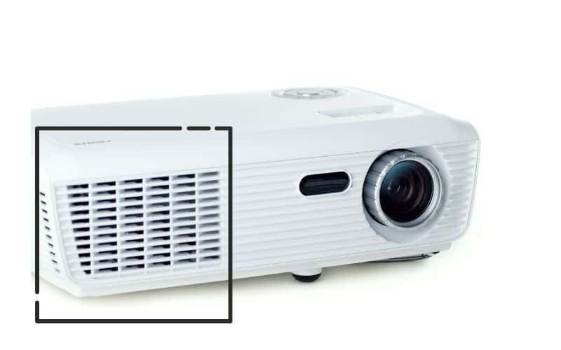 projector with a front air filter