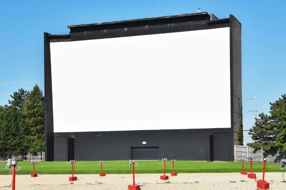 where can I rent a projector and screen