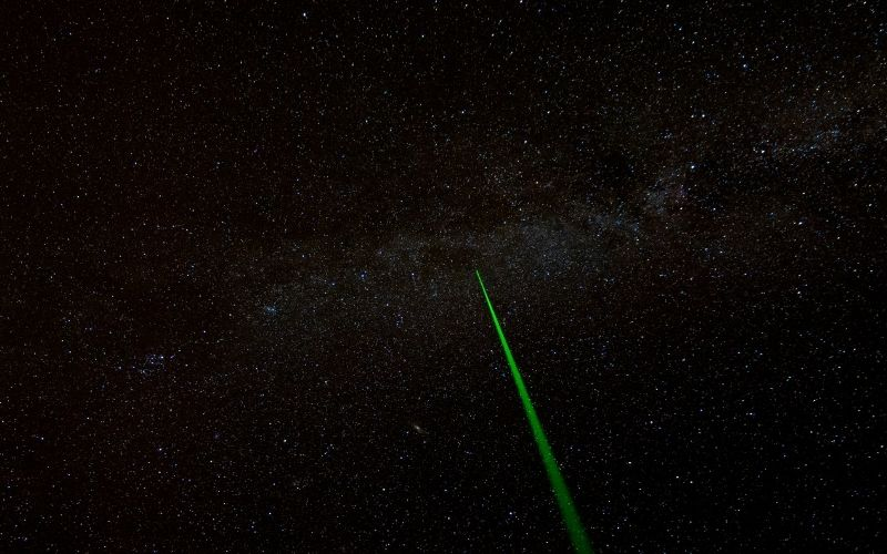 Can a Laser Pointer be Seen from Space