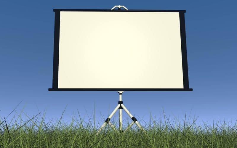 How do you clean an outdoor projection screen