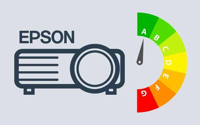 How much power does an Epson projector use