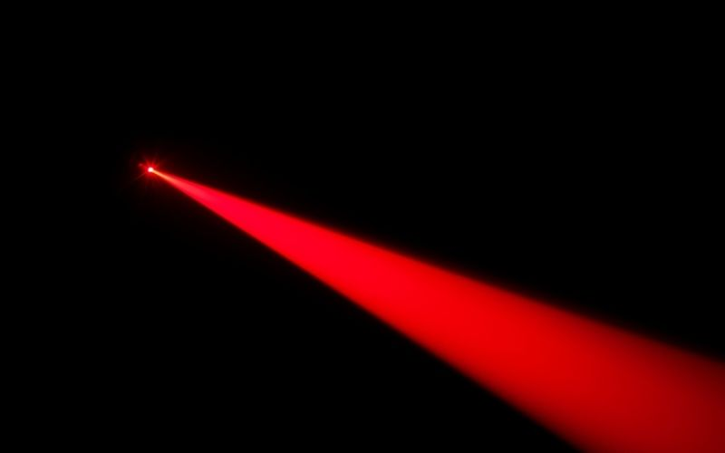 laser light generated from a device