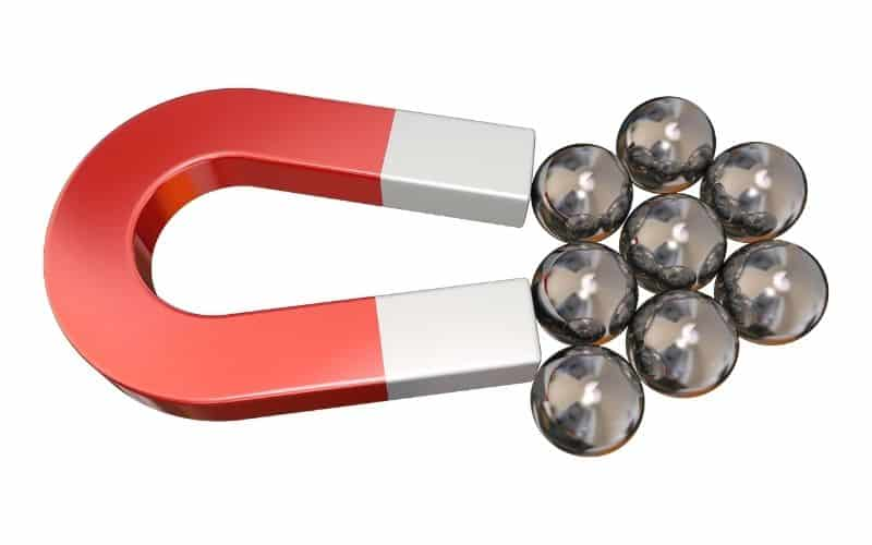 magnet and iron balls