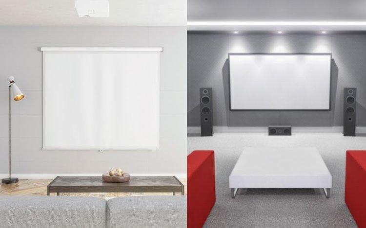 motorized projector screen vs fixed