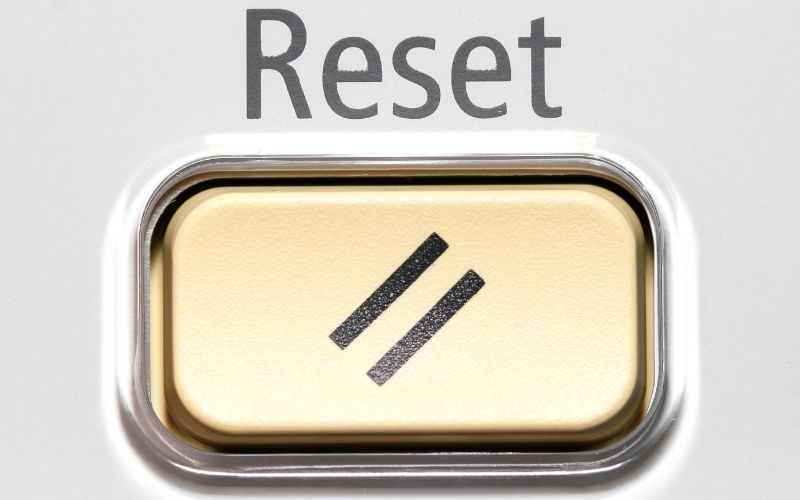using reset button