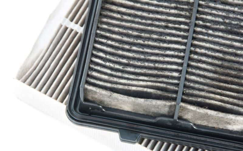 dust filter from a device
